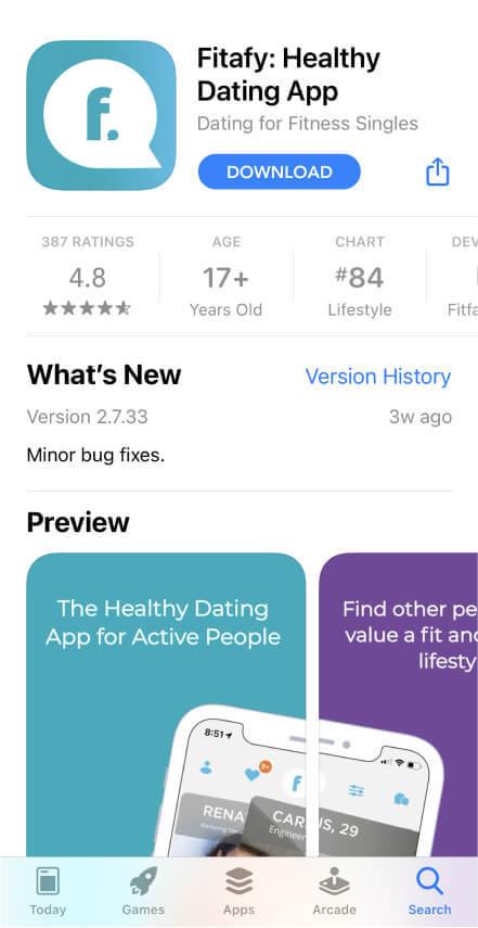 Fitafy App - App Store Screenshot